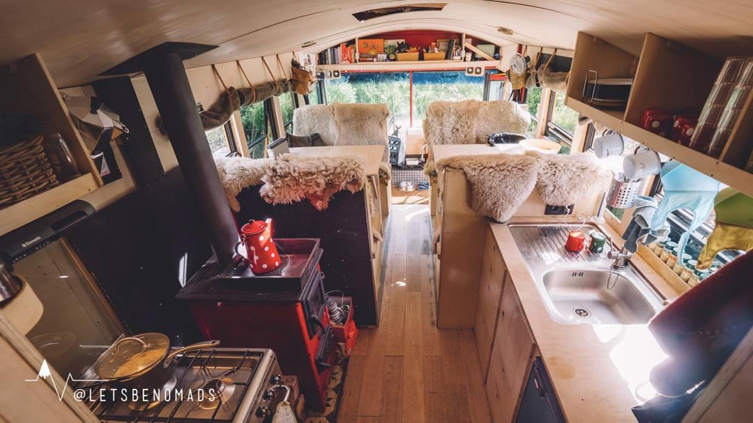 cuisine bus aménagé