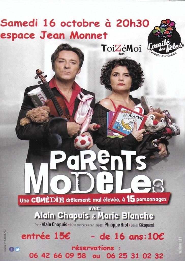 """""""Parents Modèles"""" Samedi 16 octobre 2021 à Sérézin-du- Rhône (69). Espace Jean Monnet. Réservations : 06 42 66 09 58 ou 06 25 31 02 32"""