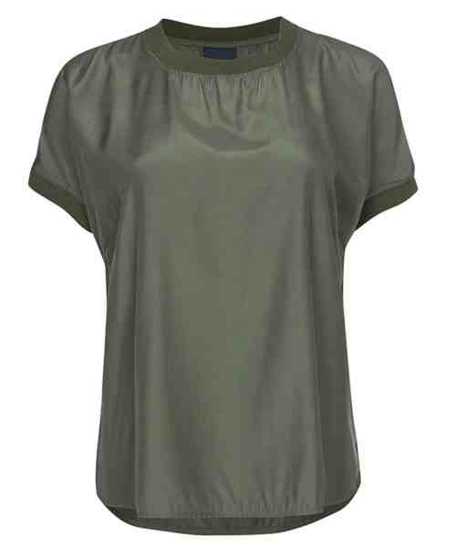 One Two Luxzuz Nessie Blouse Army