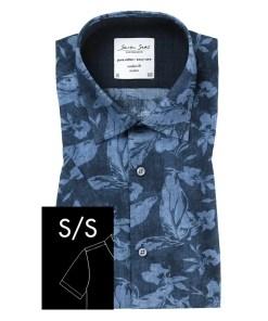 Seven Seas Skjorte Leaf Kortærmet