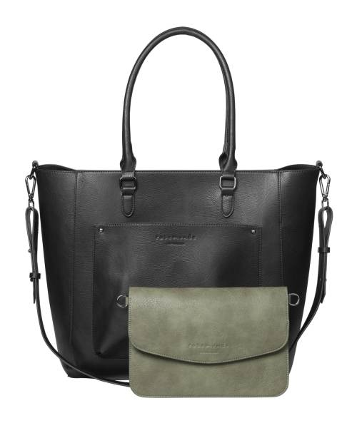 Rosemunde Big Bag + Clutch Black oxid - Leaf Green