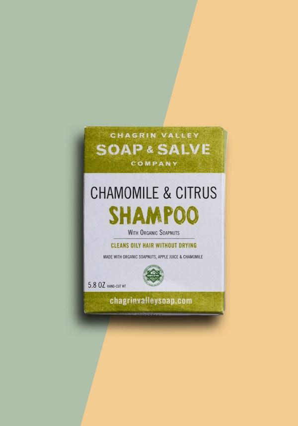chamomile citrus shampoo bar