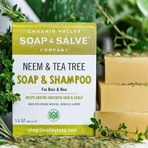 neem tea tree shampoo zeep body bar