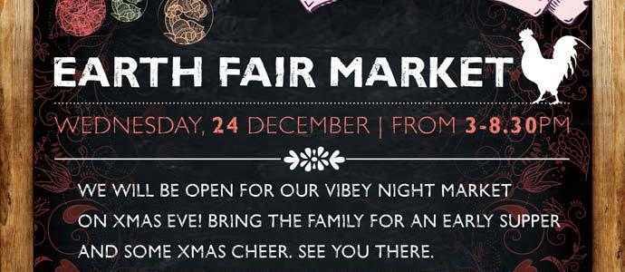Earth Fair Market open on Christmas Eve