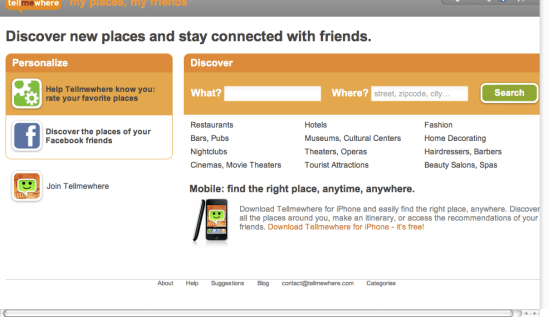 Tellmewhere - Your personalized guide- Restaurants, Hotels, Shopping (20100207)