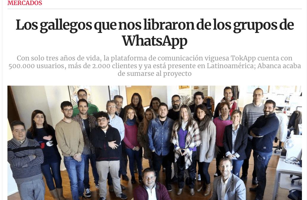 TokApp en La Voz de Galicia