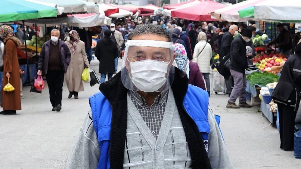 Kimi maskesiz, kimi siperlik takarak pazara çıktı