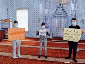 Öğrenciler ''Filistine Umut Ol''du