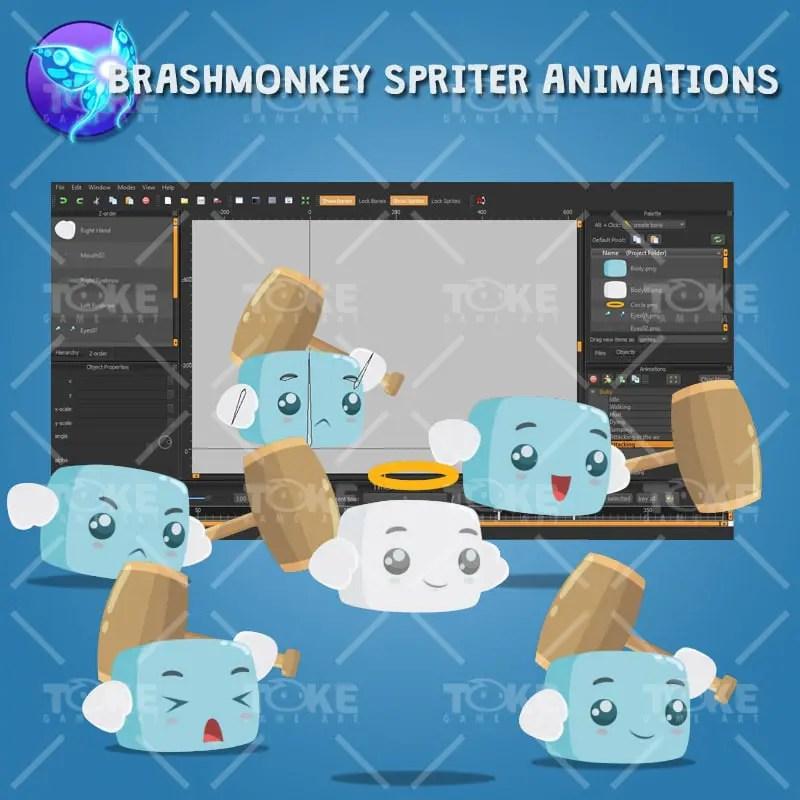 Boky The Cute Cube - Brashmonkey Spriter Animation