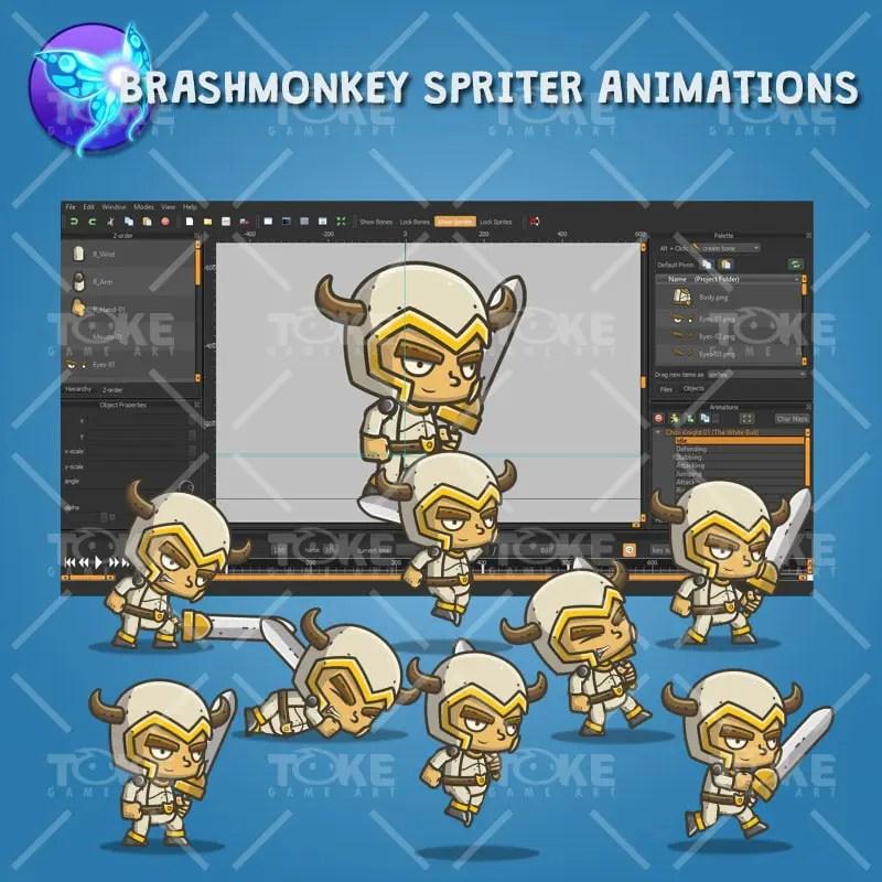 Chibi Knight The White Bull - Brashmonkey Spriter Animation