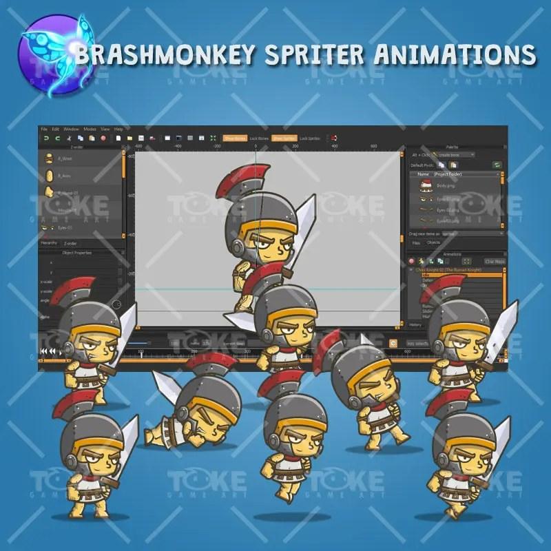 Chibi Roman Knight - Brashmonkey Spriter Animatoin