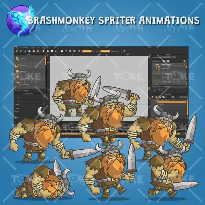 Chibi Muscular Viking - Brashmonkey Spriter Animation