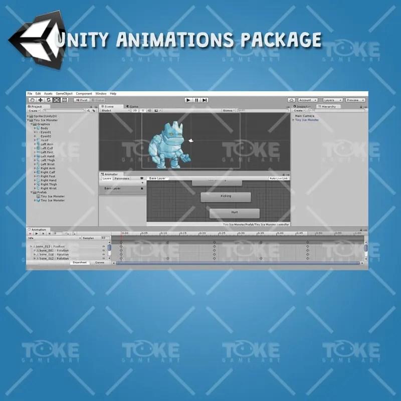 Tiny Ice Monster – Unity Animation Ready