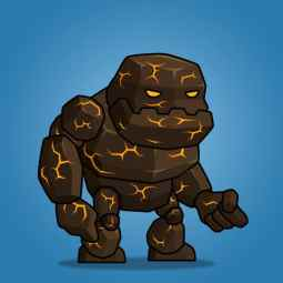 Tiny Lava Monster - 2D Character Sprite