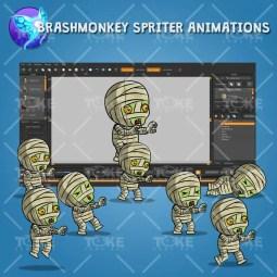 Tiny Cute Mummy – Brashmonkey Spriter Animation