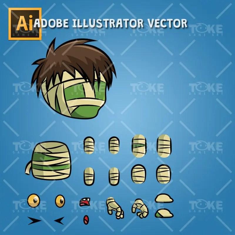 Tiny Mummy - Adobe Illustrator Vector Art Based