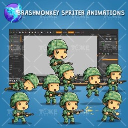 Tiny US Soldier – Brashmonkey Spriter Animation