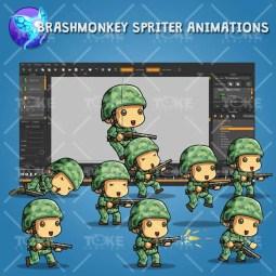 Tiny US Soldier – Brashmonkey Spriter Animation