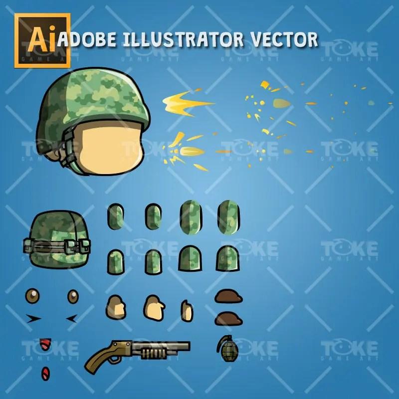 Tiny Australian US – Adobe Illustrator Vector Art Based