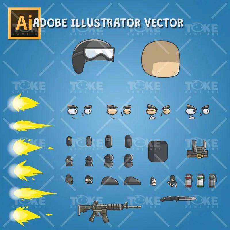 Tom The Police - Adobe Illustrator Vector Art Based