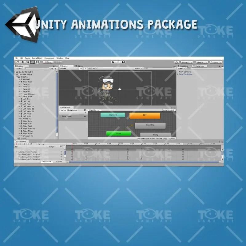 Tom The Police - Unity Animation Ready