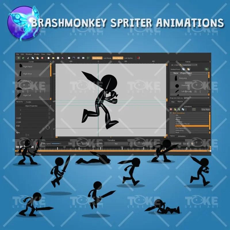 Stick Swordman - Brashmonkey Spriter Animation