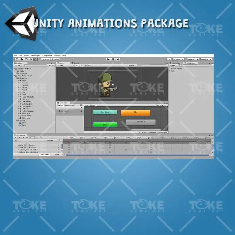 Tiny Army Sam - Unity Animation Ready