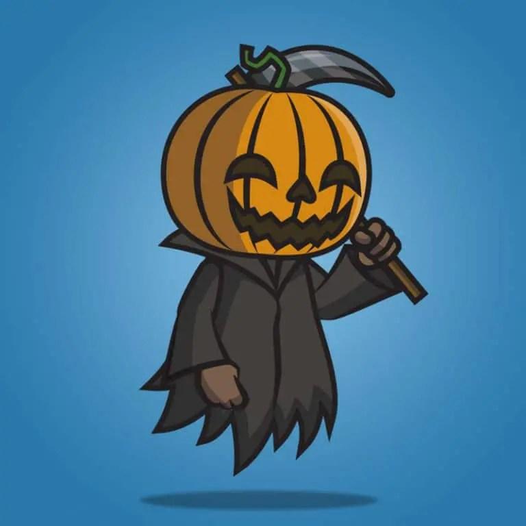 Pumpkin Ghost - 2D Character Sprite