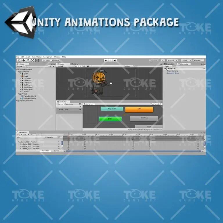Pumpkin Ghost - Unity Animation Ready
