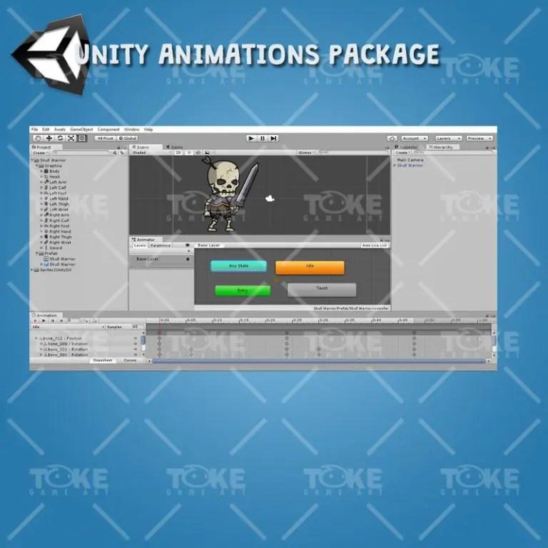 Skull Warrior - Unity Animation Ready