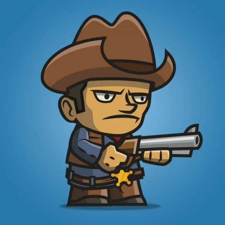 Tiny Cowboy - 2D Character Sprite