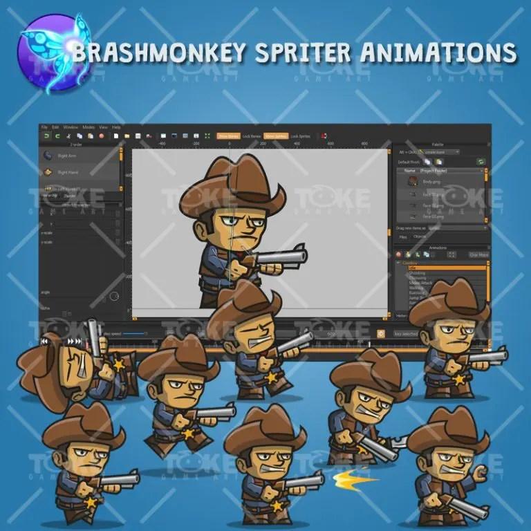Tiny Cowboy - Brashmonkey Spriter Animation