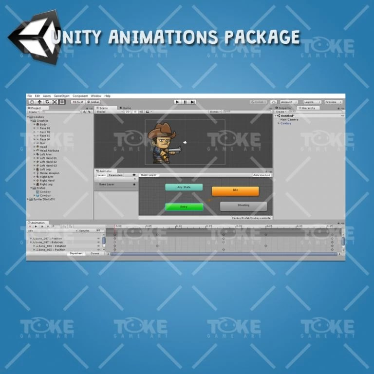 Tiny Cowboy - Unity Animation Ready
