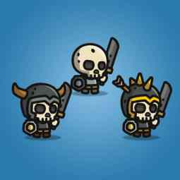 Tiny Style Character Skull - 2D Character Sprite