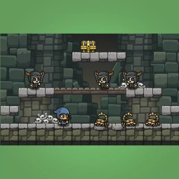 Cartoon Dungeon Platformer Tileset - 2D Game Platformer