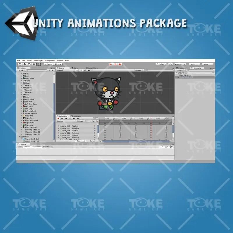 Super Black Cat - Unity Animation Ready