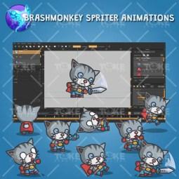 Super Cat - Brashmonkey Spriter Animation