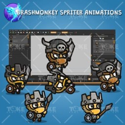 Tiny Style Character - Barbarian - Brashmonkey Spriter Animation