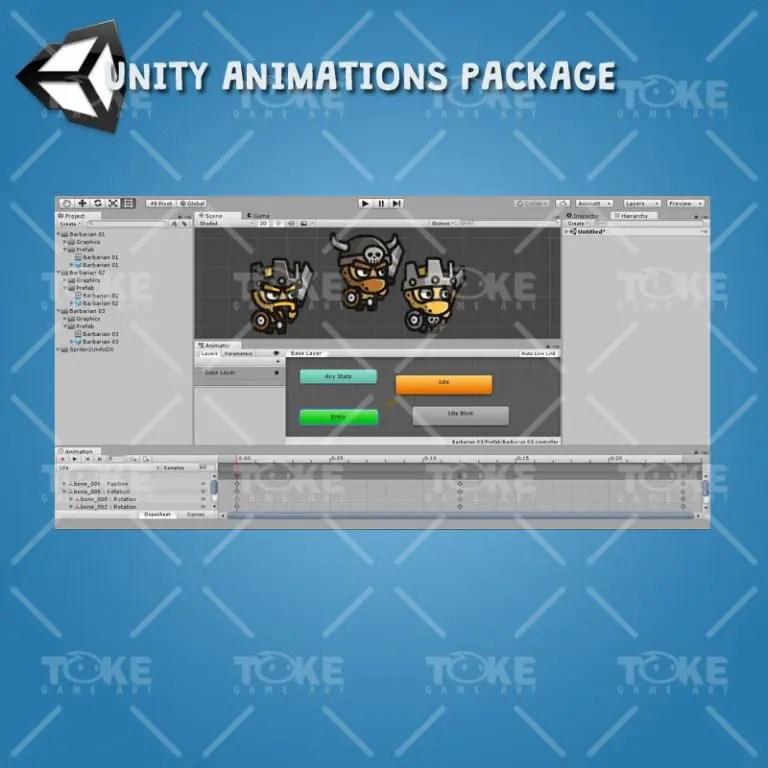 Tiny Style Character - Barbarian - Unity Animation Ready