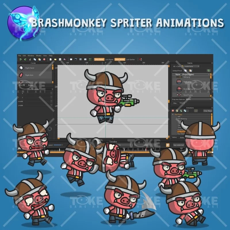 Bad Piggy - Brashmonkey Spriter Animation