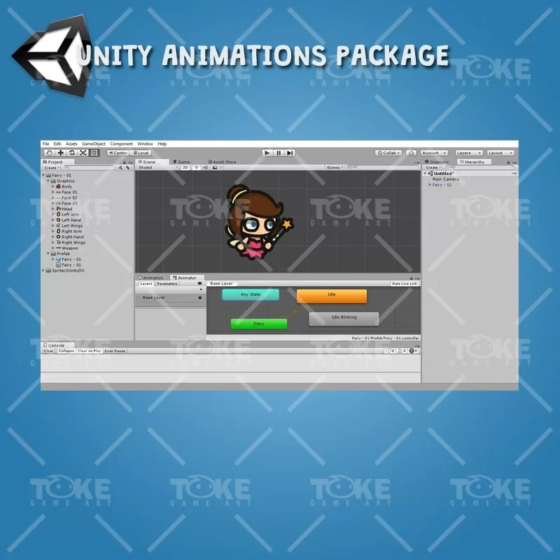 Fairy Tiny Style Character - Unity Animation Ready