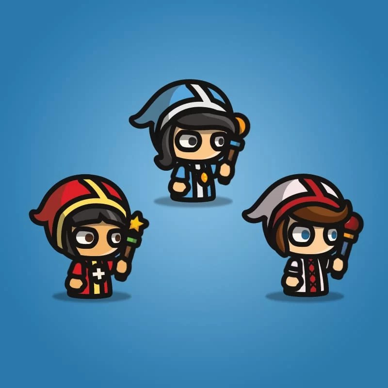 Priest - Tiny Style Character - 2D Character Sprite