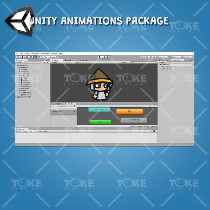 Samurai Tiny Character Style - Unity Ready