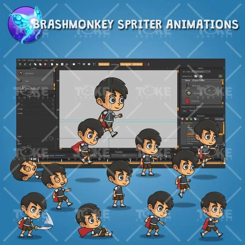 Super Boy - Brashmonkey Spriter Animations