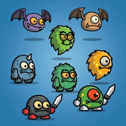 Cartoon Enemy Pack 01 - 2D Monster Character Pack