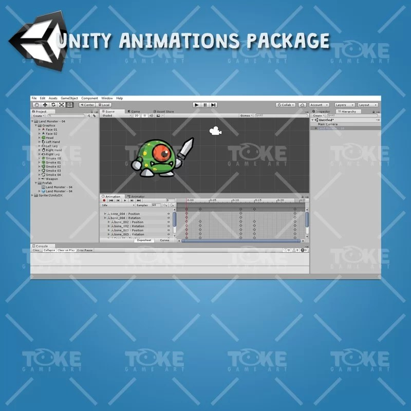 Cartoon Enemy Pack 01 - Unity Animation Ready