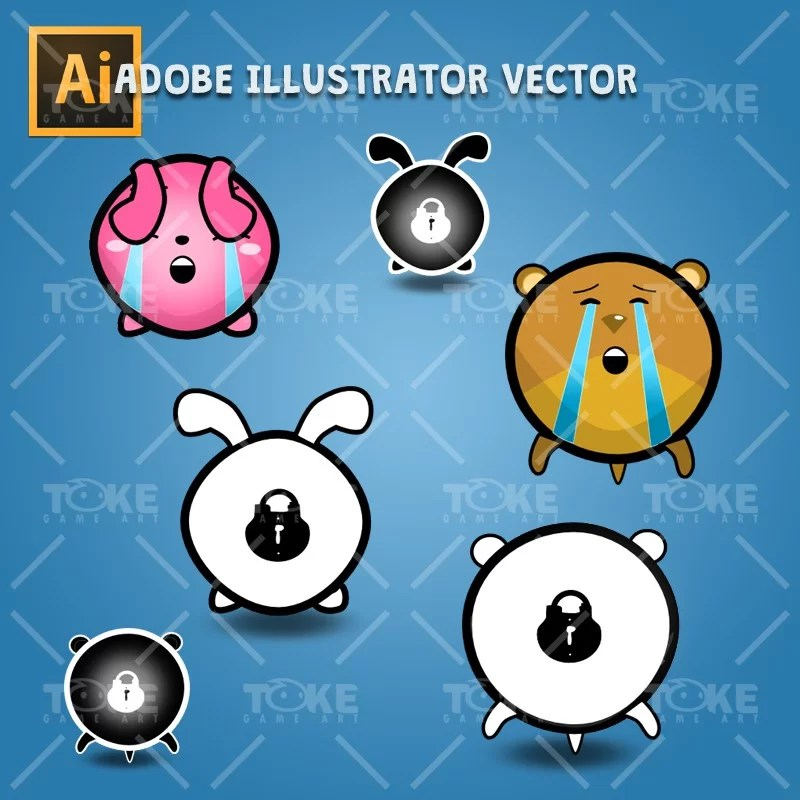 Cute Animal Icon Pack - Adobe Illustrator Icon Pack