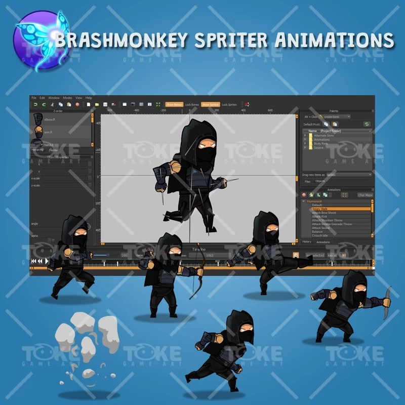 Dark Thief - Brashmonkey Spriter Animation