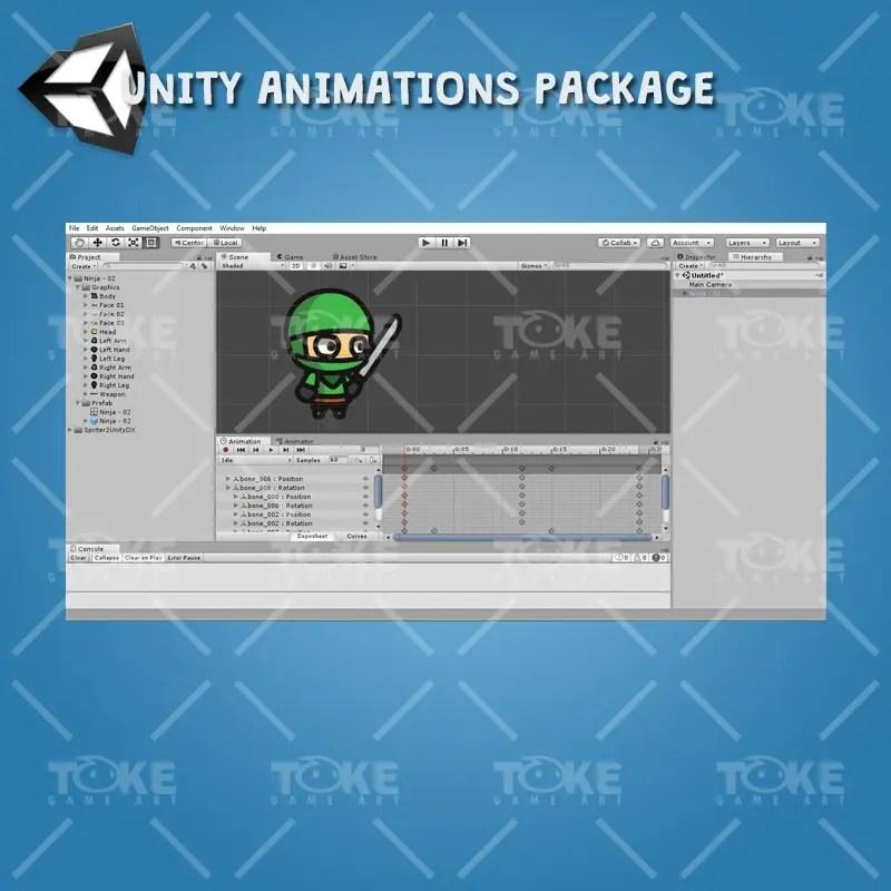 Ninja Tiny Style Character - Unity Animation Ready