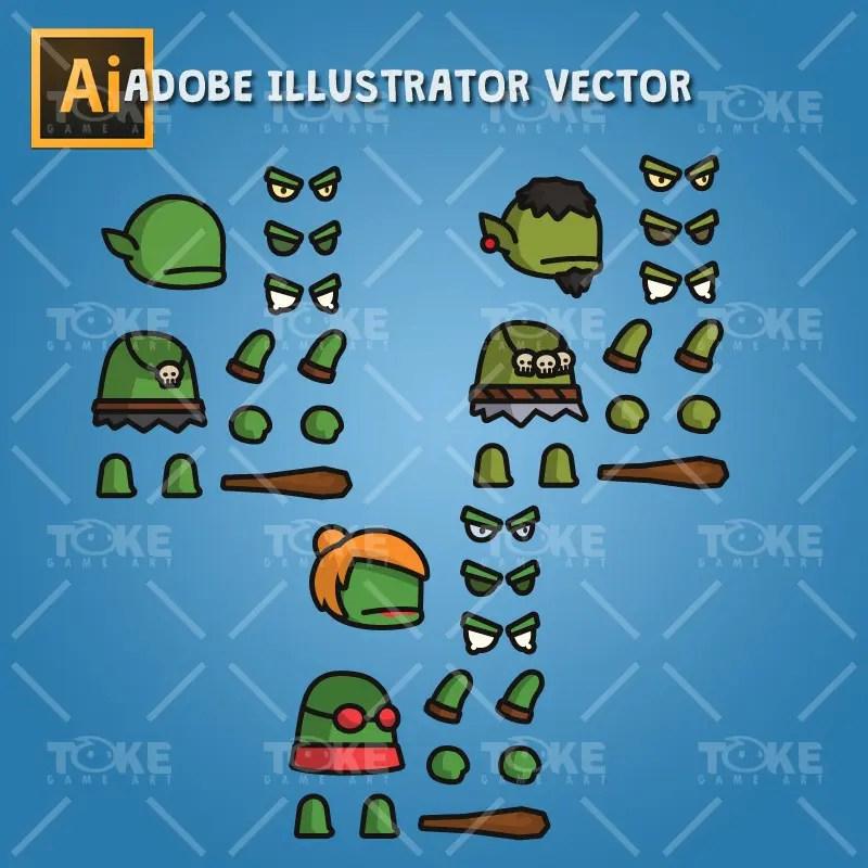 Ogre Tiny Style Character - Adobe Illustrator Vector Art Based